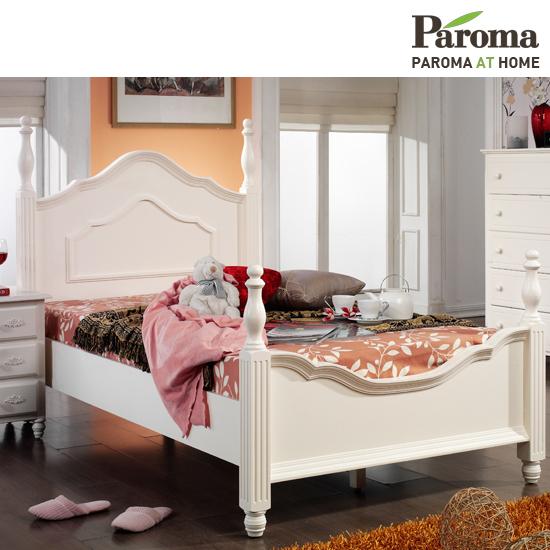 [파로마] 로즈메리 원목도장 슈퍼싱글 침대(일반매트포함)