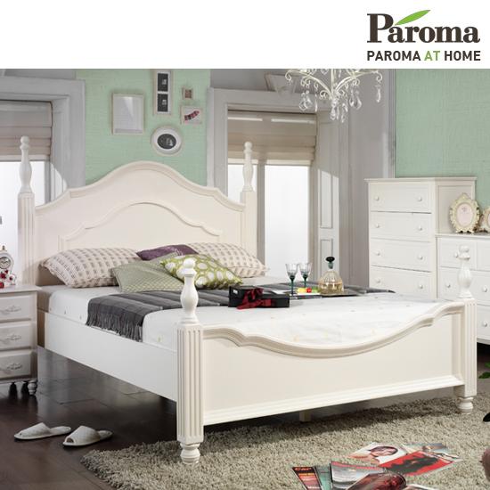 [파로마] 로즈메리 원목도장 퀸 침대(독립매트포함)