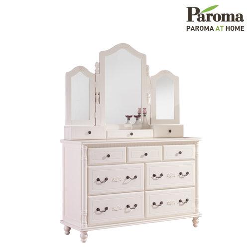 [파로마] 코델리아 원목 도장 드레스서랍장(거울포함)