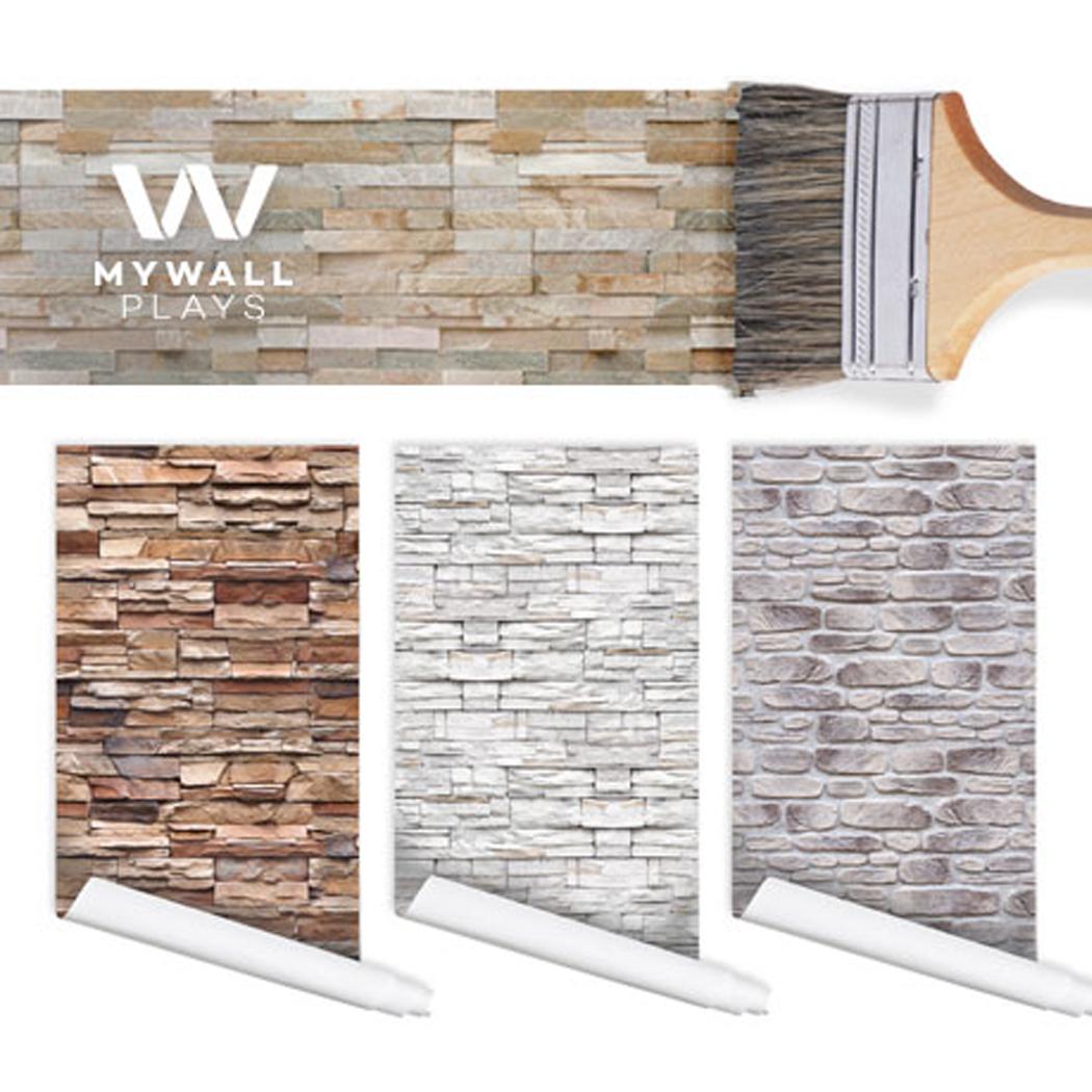 접착식 포인트벽지 벽돌패턴 패브릭 조각벽지
