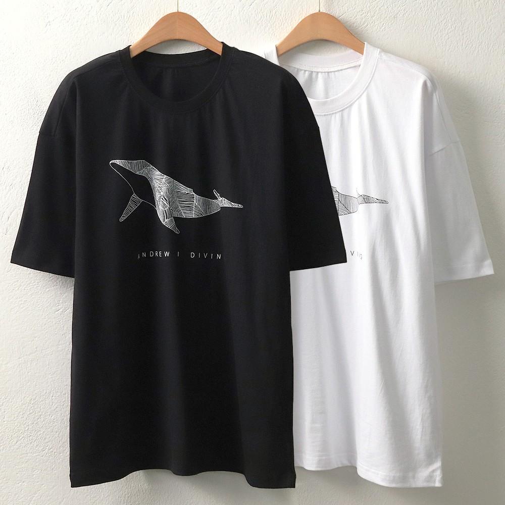 [강물처럼] MI 조각흰수염고래반팔(5726H906) 빅사이즈