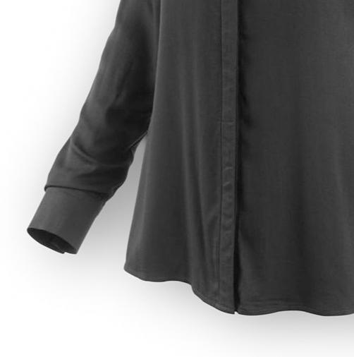 여성 스터디드 스트라이프 레이온 셔츠