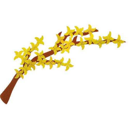 [아트공구][유니네267]6000 펠트 개나리나무