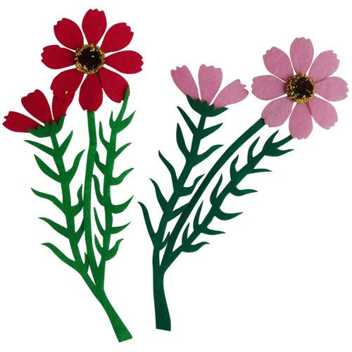 [아트공구][유니네277]3000 펠트 코스모스줄기꽃