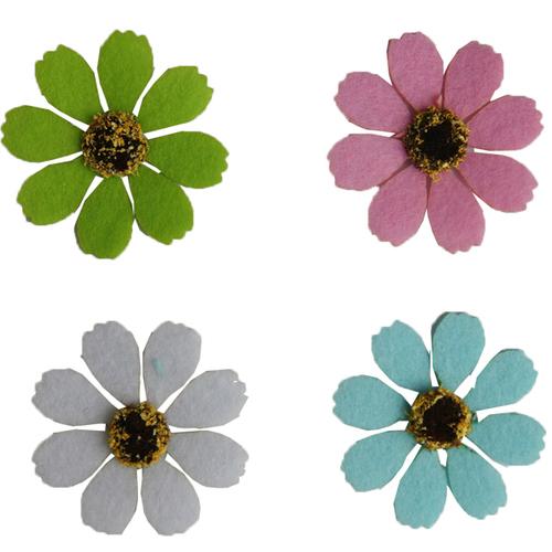 [아트공구][유니네292]2500 펠트 코스모스꽃