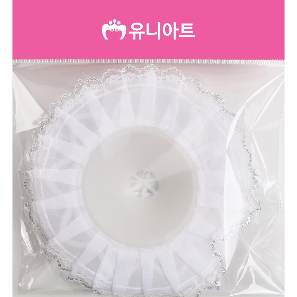 [아트공구][유니네2140] 1800 부케받침 중 흰색 분홍